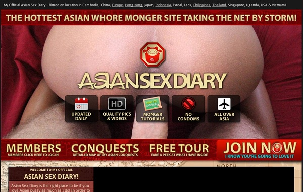 Valid Asiansexdiary.com Passwords