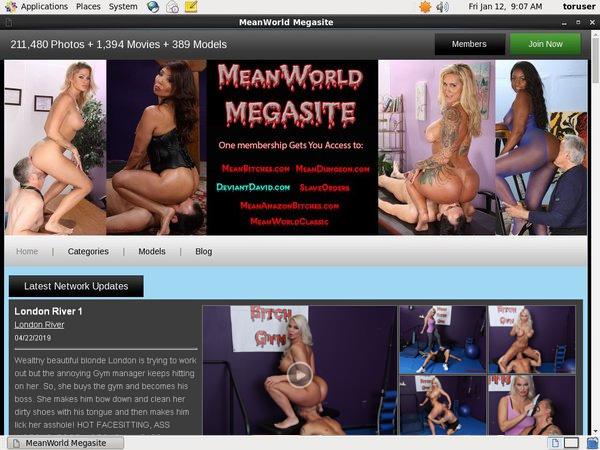 Meanworld Wachtwoord